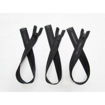 Zipper Bundle- Chunky Open End- 55cm Black- 3 for $5