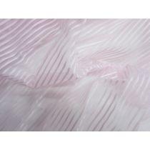 Self Stripe Ribbon Organza- Pink