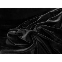 Plush Stretch Velvet- Baddie Black