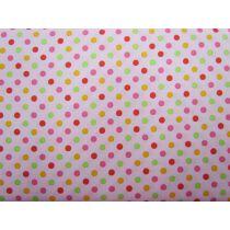 Colour Basic Spot Cotton- Multi on Pink