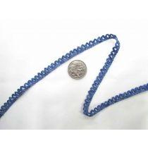 Metallic Baby Ripple Scallop Stretch Trim- Blue