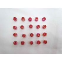 Pink Iridescent Beads- 20 for $3- RW134