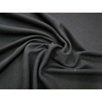Medium Weight Cotton Blend Rib Knit- Black #1002