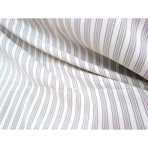 Stretch Shirting- Coffee Stripe