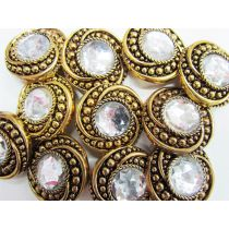 Sultan's Jewels- Silver Couture Buttons- CB242