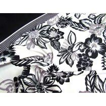 1.5m Island Floral Band Spandex Panel- Black