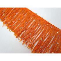 Sequin Fringe Trim- Orange