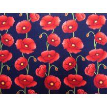Poppy Cotton- Navy