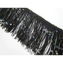 Sequin Fringe Trim- Black
