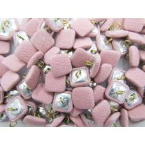 Fabric Covered Fashion Buttons- Pink Crepe FB094