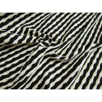 Dimple Wave Knit Jersey- Black