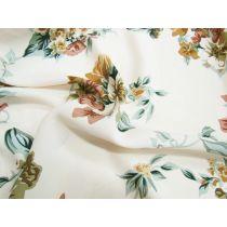 Capri Floral Rayon- Cream