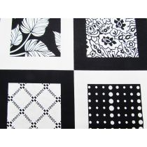 In Frame Cotton- Black/White