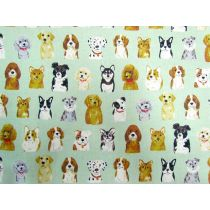 Portrait Puppies Linen Cotton