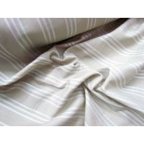 Triple Stripe Jacquard Shirting- Sand