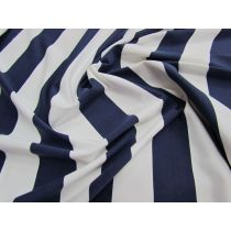 Yacht Stripe Spandex- Nautical Navy