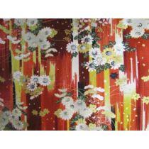 Japanese Floral Stripe