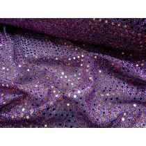 3mm American Sequins- Copper on Purple/Black