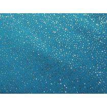 Glitter Chiffon- Aqua