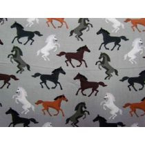 Wild Horses Cotton- Grey