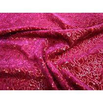 Steal The Night- Sequin on Panne Velvet- Scarlet