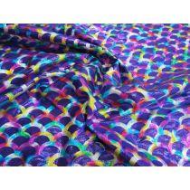 Rainbow Mermaid Foile Spandex- Purple