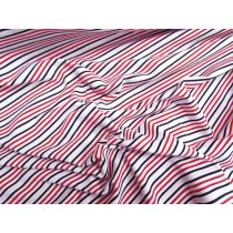 Raspberry Bullet Stripe Cotton Spandex