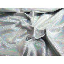 Iridescent Digital Dot Spandex- Crystal