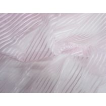 Self Stripe Ribbon Organza- Pink