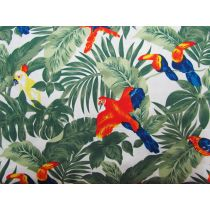 Paradise Palms Cotton- White