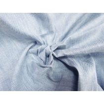 Light Blue Linen Blend Stretch Denim