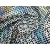Holographic Teeny Triangles Spandex