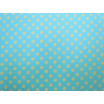 Colour Basic Spot Cotton- Yellow on Aqua
