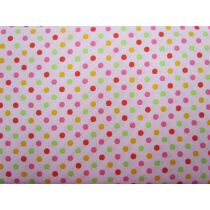 Colour Basic Spot Cotton- Multi on Pink