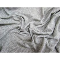 Light Soft Drape Mini Rib Jersey- Grey