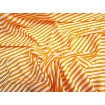 Lustrous Stripe Stretch Jersey- Orange