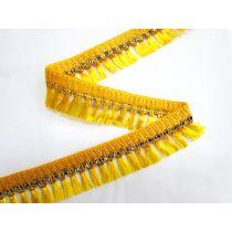 Gold Embroidered Tassel Trim- Sunshine
