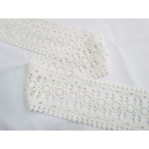 Soft Cotton Palace Window Lace- Pale Cream