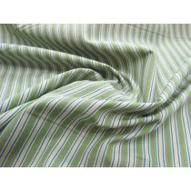 Primary Pinstripe Cotton Shirting- Green