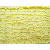 30mm Cotton Lace Ribbon Trim- Lemon Butter