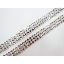 Silver Diamante Rhinestone Trim Pieces- 2 for $7