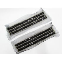Rhinestone Soft Mesh Motif- Glam Black- 2 for $5