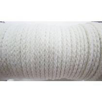 5mm Cotton Drawstring Cord- Paper White