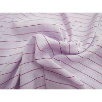 Dreamy Striped Linen Blend- Lilac/Maroon