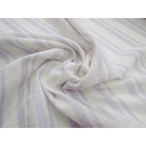 California Stripe Light Linen Cotton Blend- Lilac