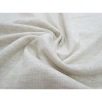 Ribbed Knit Jersey- Heather Creamy Beige #995