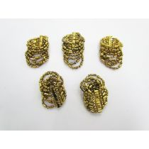 Gold Beaded Embellishments- RW236- 5 for $3