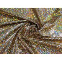 Dark Shattered Glass Spandex- Gold on Black