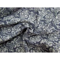 Madame Jacquard Bengaline- Denim Blue