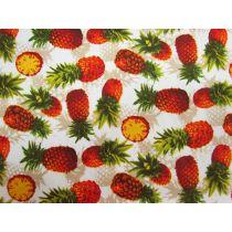 Pineapple Fiesta On Cream Cotton